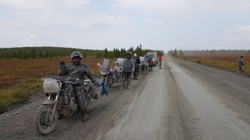 Road on Bones Magadan Kolyama Highway Rusmototravel motorcycle tour in Russia