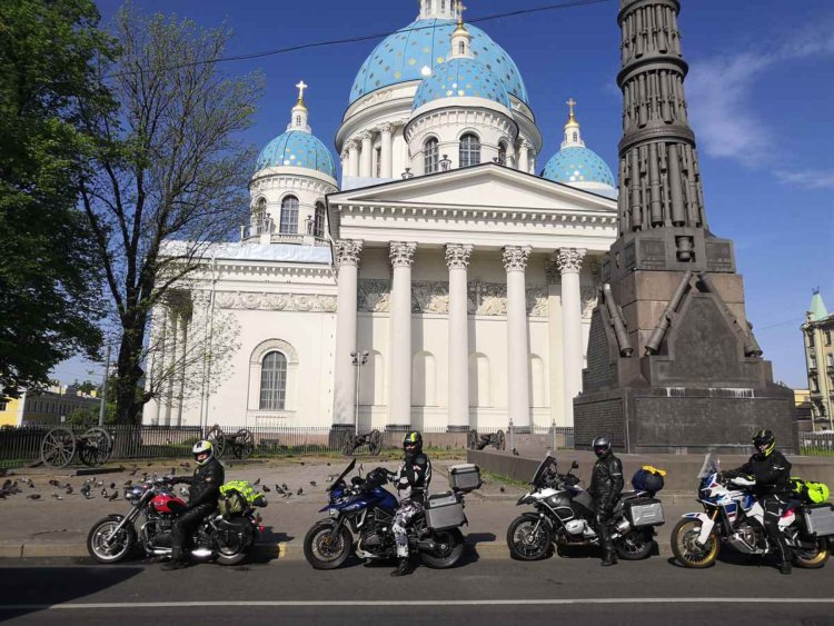 Moscow-Saint-Petersburg motorcycle tour Rusmototravel, Saint-Petersburg Cathedral