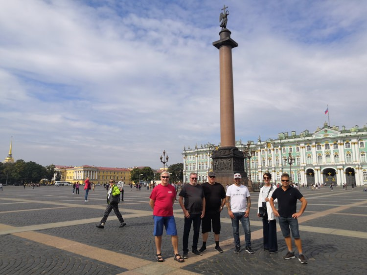 Saint-Petersburg-Moscow Motorcycle Tour Rusmototravel Palace Square
