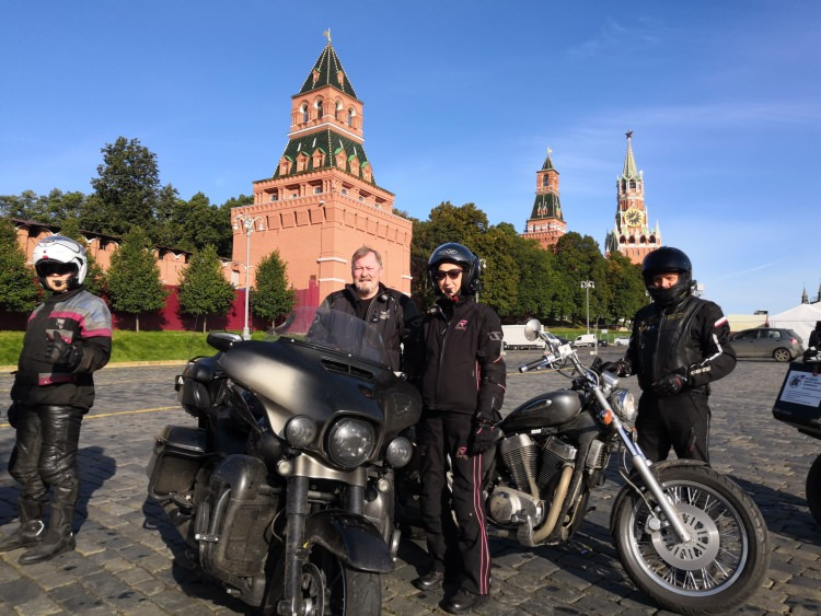 Moscow-Saint-Petersburg motorcycle tour Rusmototravel, Moscow Red Square