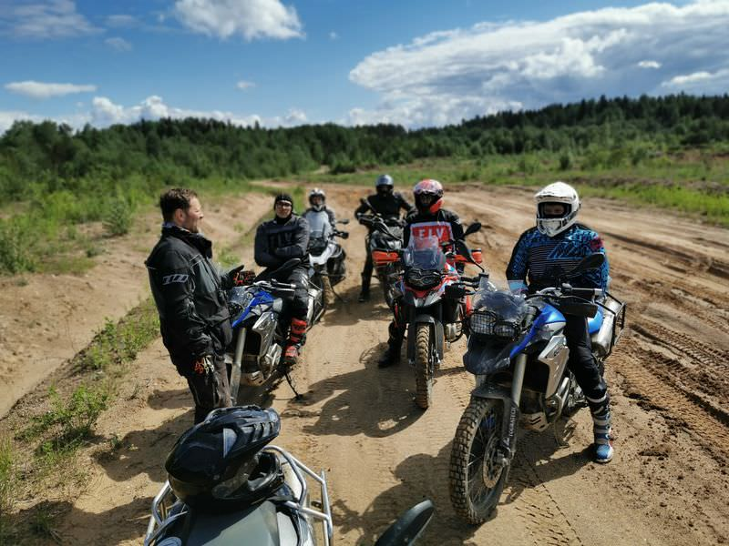 Enduro course at valday
