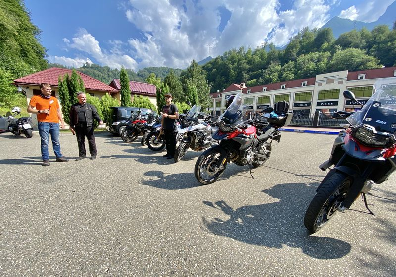 Sochi-Elbrus July 2020 tour with Rusmototravel on BMW F750, 850 and R1250GS